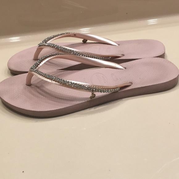ffb4534870e3 Havaianas Shoes - Havaianas Slim Swarovski crystal flip flops size 6